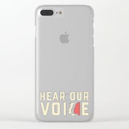 Women March Voice Clear iPhone Case