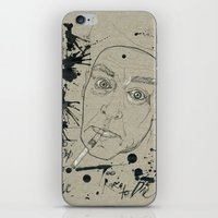 hunter s thompson iPhone & iPod Skins featuring Hunter S Thompson by Nicostman