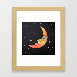 Imaginative Moon Framed Art Print