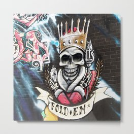 Las Vegas Skull Graffiti Metal Print
