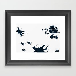 """Stay in attack position"" Framed Art Print"