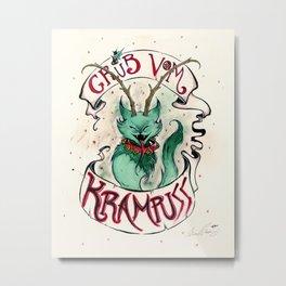 Gruss Vom Krampuss Metal Print