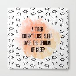 Tiger. Metal Print
