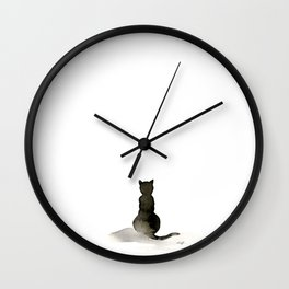 I Love Cats No. 2 by Kathy Morton Stanion Wall Clock