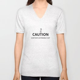 Caution Unisex V-Neck