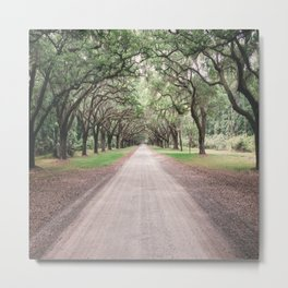 the heart melts on long driveways because rarely are our own paths in life as straight or as scenic Metal Print