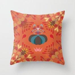 Autumn flower pattern 1b Throw Pillow
