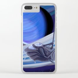 Through Space and Sound Clear iPhone Case