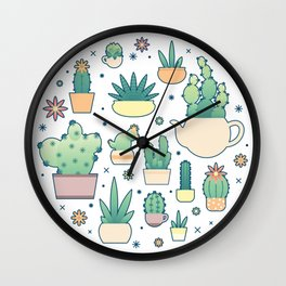 Thorny on the Outside, Ferny on the Inside Wall Clock