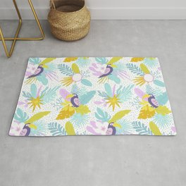 Colorful Toucans Chill Out Rug