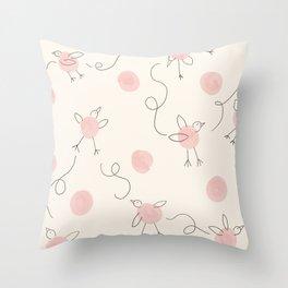 Fly, Fly Little Birds. Throw Pillow