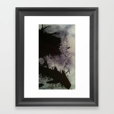 Ink small scale Framed Art Print