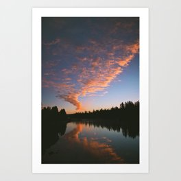 Idaho Sunrise Art Print