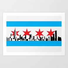 New Chicago Flag Art Print