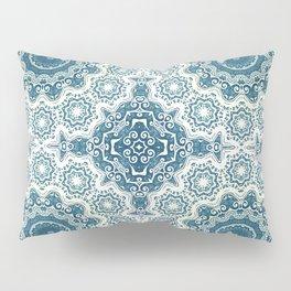Creamy and blue mandala pattern Pillow Sham