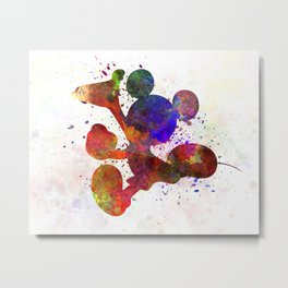 Mickey Mouse in watercolor Metal Print