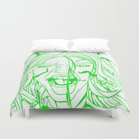 poison ivy Duvet Covers featuring New 52 Poison Ivy by Jeremy Gonzalez