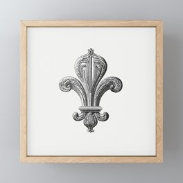 Fleur de lys of the board room from Artistic And Historical Guide At The Palais De Fontainebleau Etc Framed Mini Art Print