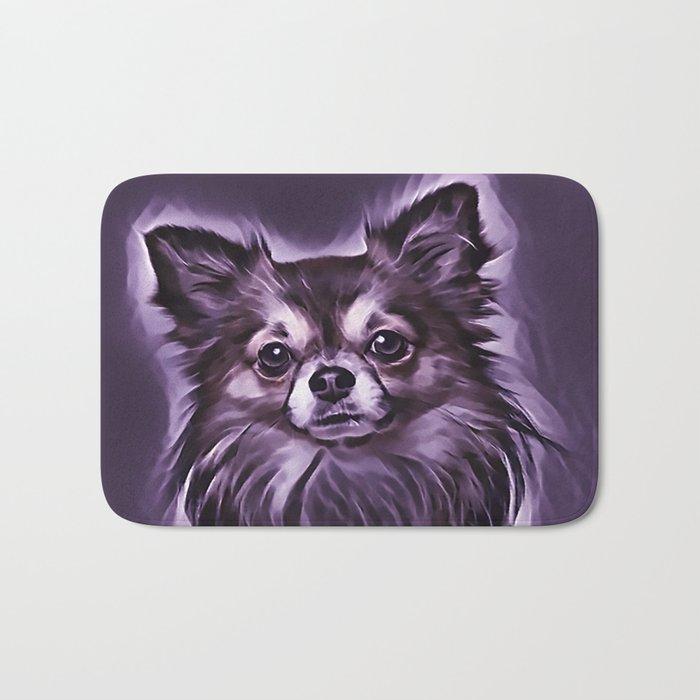 The Chocolate Pomeranian Bath Mat