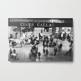 Cines Callao Metal Print