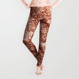 Rose gold draped foil Leggings