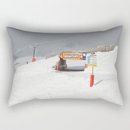 Entrance to the Snowpark Rectangular Pillow