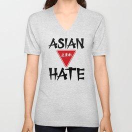 Stop Asian Hate Anti-Asian Support AAPI Japanese Unisex V-Neck