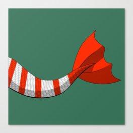 Candy Cane Mermaid Tail V2 #Christmas #Holiday Canvas Print
