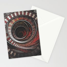 Beautiful Striped Fractal Circles, the Thousand and One Rings of the Circus Stationery Cards