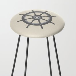 AFE Gray Helm Wheel Counter Stool