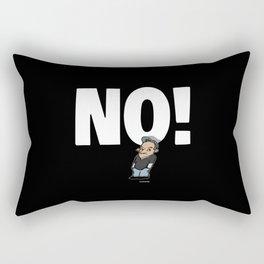 No! no.1 white Rectangular Pillow