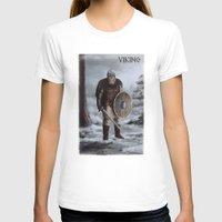 viking T-shirts featuring Viking by Silvana Massa Art