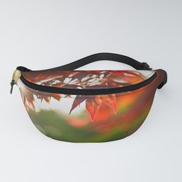 Indian Summer III Season Autum red Leaves Fall Fanny Pack