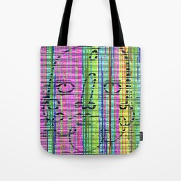 Jitter or stutter excess put on row in old lunges. Tote Bag