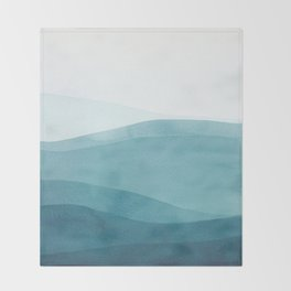 Watercolor Sea | Dip Dye Blues Throw Blanket