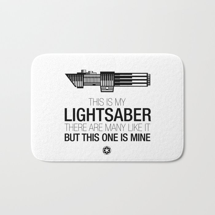 This is my Lightsaber (Vader Version) Bath Mat