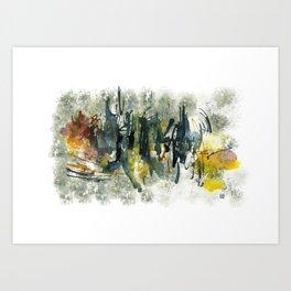 city of lights . blinding much Art Print