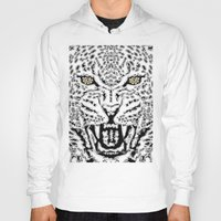 leopard Hoodies featuring Leopard by BUBUBABA