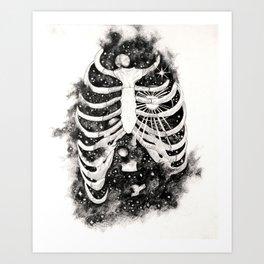 Space inbetween the ribs Art Print