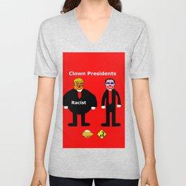 Clown Presidents Unisex V-Neck