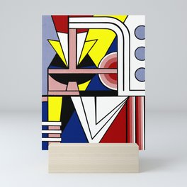 A digitally reworked   Roy Lichtenstein's pop art Mini Art Print