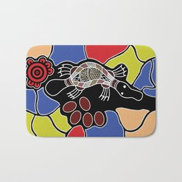 Authentic Aboriginal Art – Platypus Dreaming Bath Mat