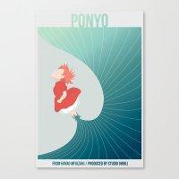 ponyo Canvas Prints featuring Ponyo by Josh Smiertka