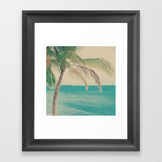 Coco Palm in the Beach  Framed Art Print