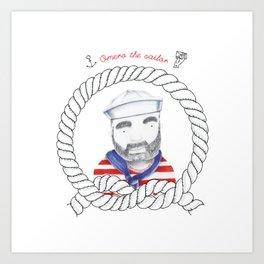 Omero il marinaio Art Print