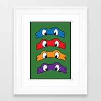 tmnt Framed Art Prints featuring TMNT by Kaylabeaisaflea