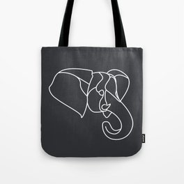 Geometric Elephant Head Tote Bag