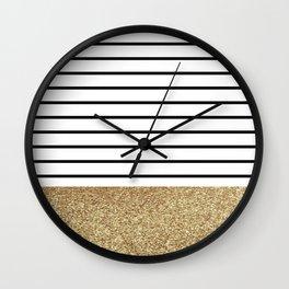MaRINiera with gold  Wall Clock