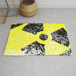 Radioactive Grunge Sign Rug