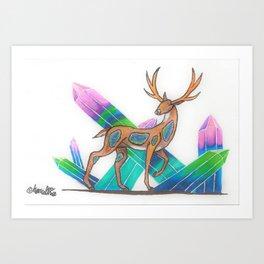 Fluorite Deer Art Print